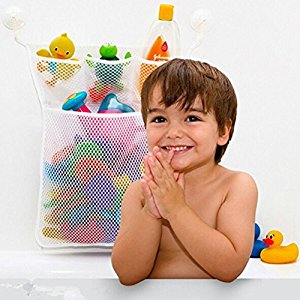 2017 Cute Baby Bath Time Toy Tidy Storage Suction Cup Bag Mesh Bathroom Net For